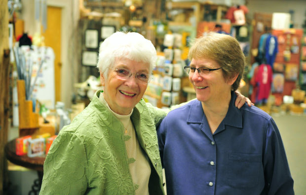 Jane Beasley and Sandy Shull at Birds & Beasley's